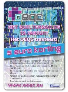 Discount for members Dutch Quilters Guild (July 7, 2013)