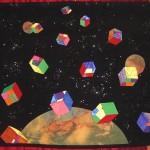 cubes volants quilt