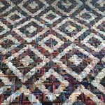 Log cabin quilt of Blanche Vandebroek