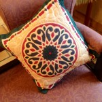 Egyptian applique cushion 3